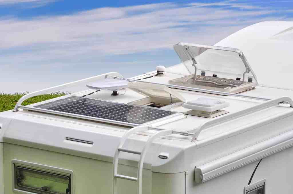 solar panels on an RV roof