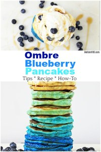 Ombre Blueberry Pancakes From Scratch Recipe