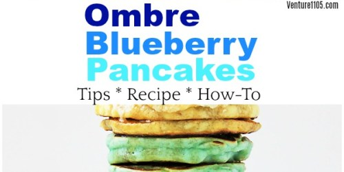 Ombre Blueberry Pancakes recipe