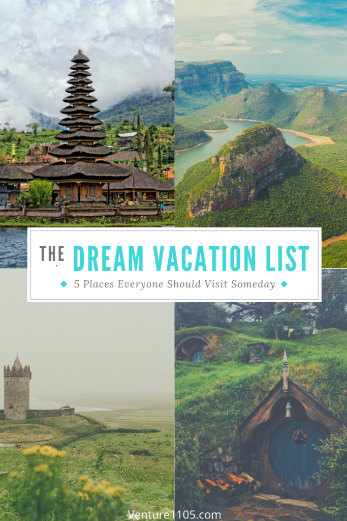 Dream vacation list