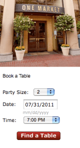 Opentable find table