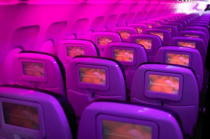 Interior of a Virgin America flight. Photo by Artur Bergman/Flickr