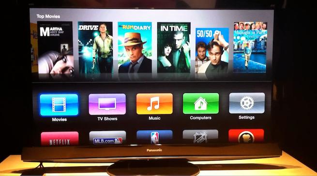Apple TV screen