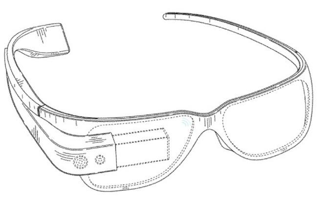 Google Glasses Design Patent Drawing