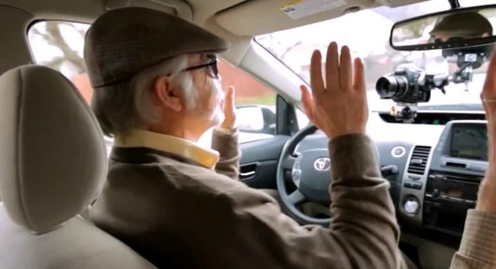 A blind driver test-drives Google's self-driving car