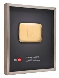 YouTube Gold Button award