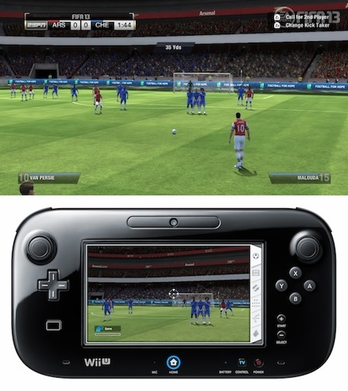 FIFA 13 with the Wii U game pad