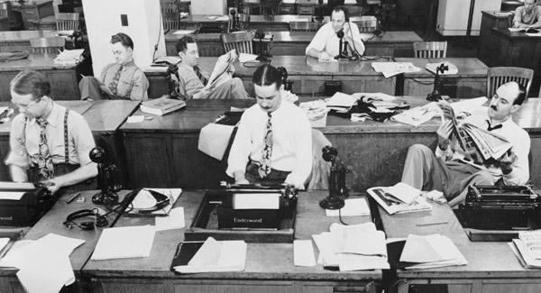 Vintage newsroom