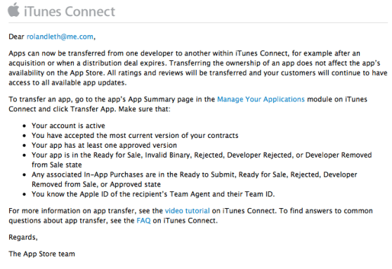 app store transfer apps