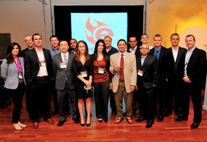The Egnyte management team in 2012.