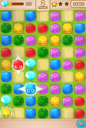 Jelly Splash is like Bejeweled, Candy Crush Saga, and Dots