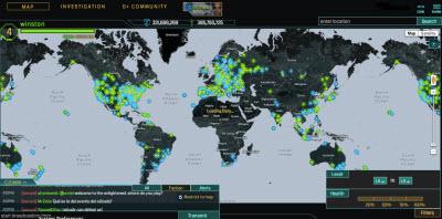 Ingress world map