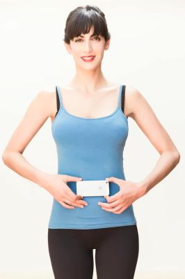 Hold your iPhone against your belly button to take an accurate reading