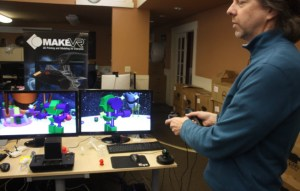 MakeVR will let users collaborate on the same design in real-time. Steve Hansted shows it off.