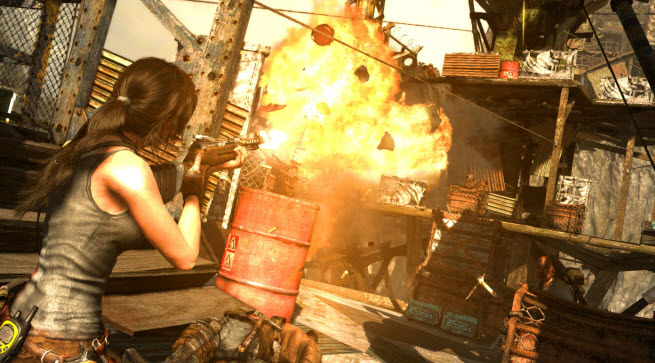 Explosions and fires will look better in Tomb Raider: Definitive Edition.