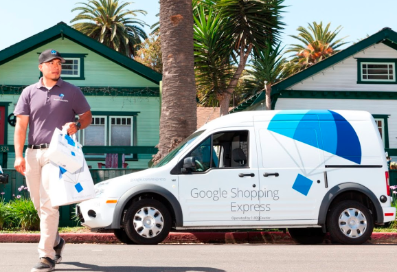 Google Shopping Express, making a delivery in LA.