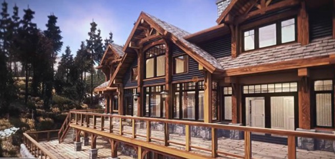Hirsh Log Homes is built with Unity
