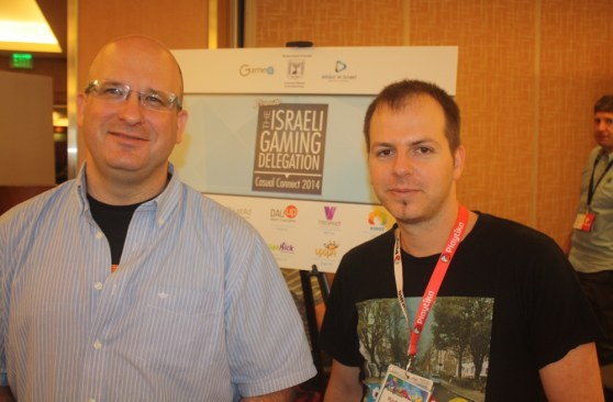 Guy Bendov of Side-kick Games and Goldy Gold of Playful Shark