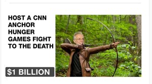 One of the prizes for The Daily Show's fake Kickstarter campaign to buy CNN.