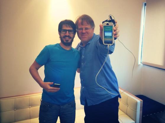 Yo co-founder Moshe Hogeg and Robert Scoble.