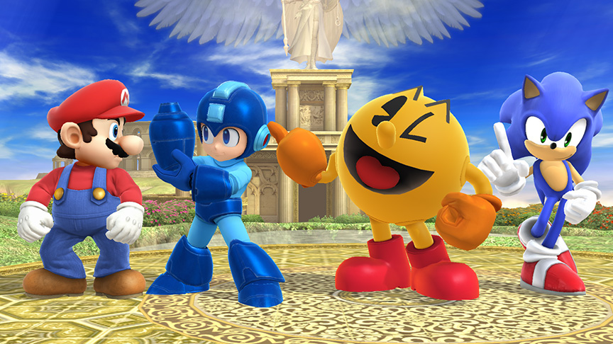 The Smash Bros. characters celebrate a successful 2014.