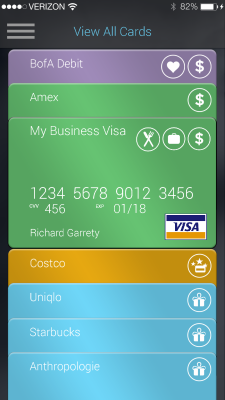 Every card uploaded onto Swyp is available through its mobile app.