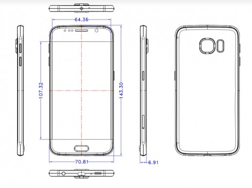 iphone 6 dimensions new leak shows samsung galaxy s6 is as thin as the iphone 11319