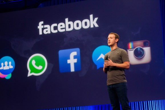 Mark Zuckerberg at Facebook's F8 2015 developer conference