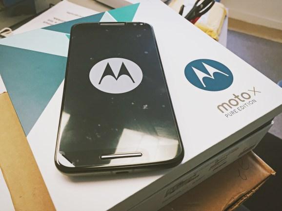 The Moto X Pure Edition.