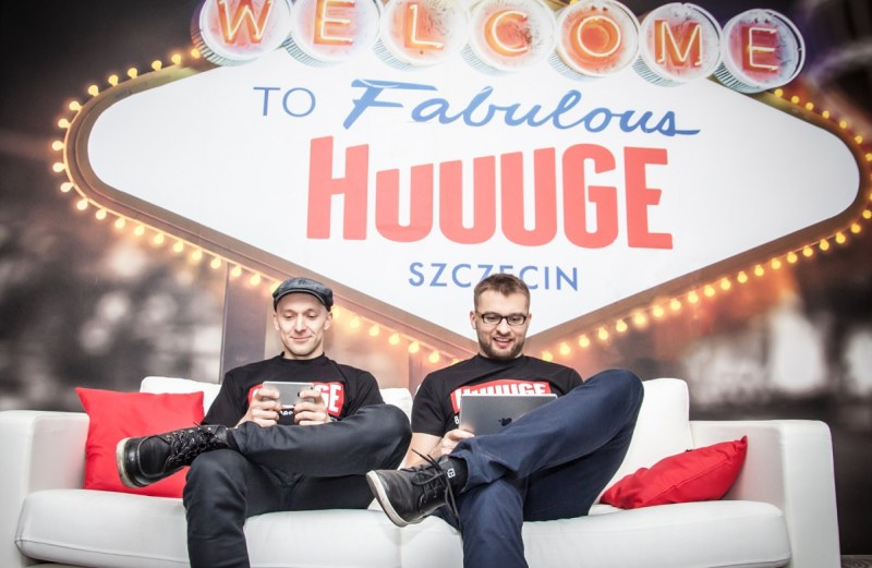 Huuuge Games CEO Anton Gauffin (left) and cofounder Wojciech Garbiec.