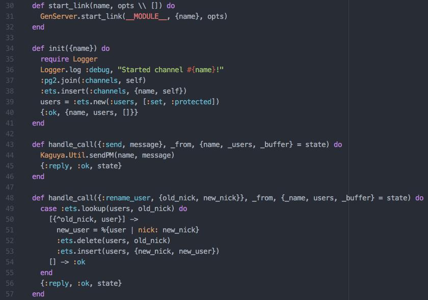 Elixir code used in the Kaguya IRC bot.