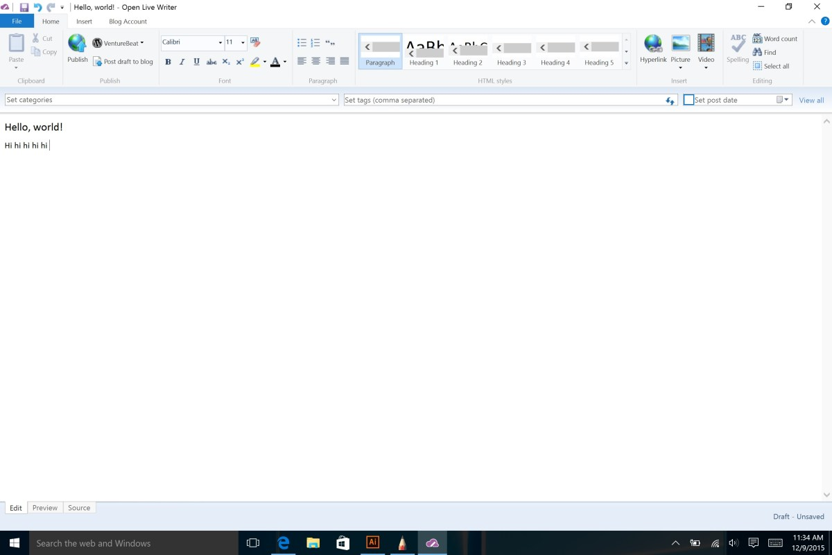 Microsoft open sources Windows Live Writer blogging tool | VentureBeat