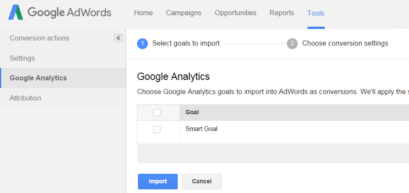 Smart Goals can be imported into AdWords to be used as an AdWords conversion.  Once you've defined a conversion in AdWords, you're able to optimize for it.