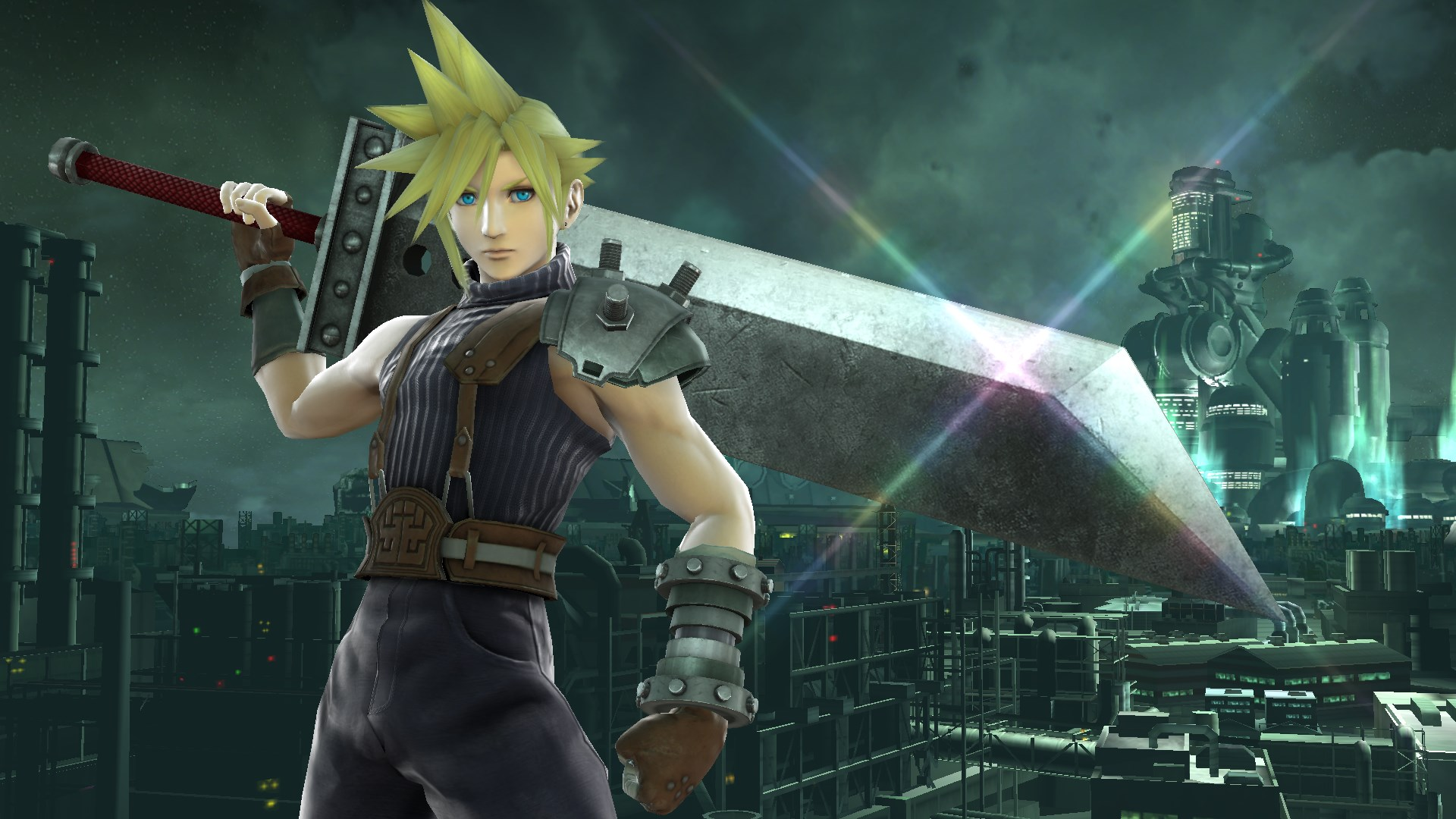 Cloud is ready to fight.