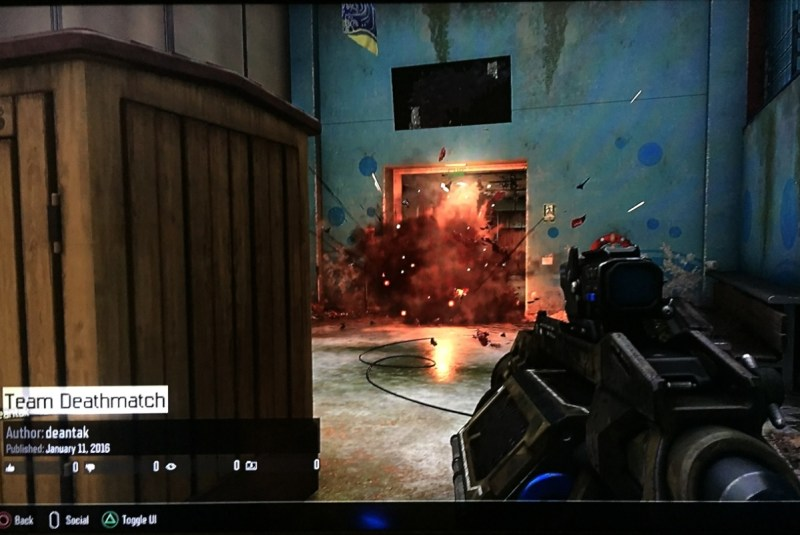 That's me, blowing someone else up with a grenade launcher in Black Ops III multiplayer.