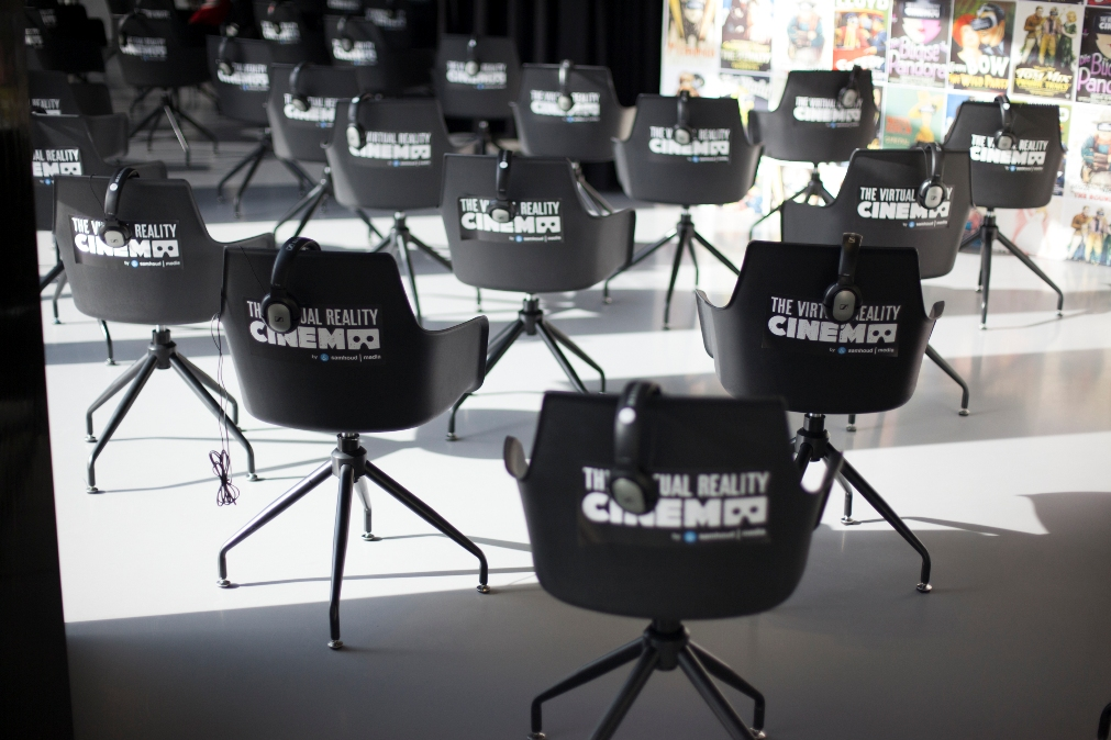 swivel chair vr gym results virtual reality movie theaters are now a thing venturebeat the cinema amsterdam opening event