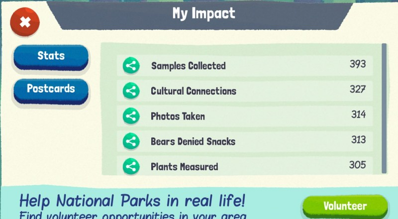 You can see the results of your efforts in Save the Park.