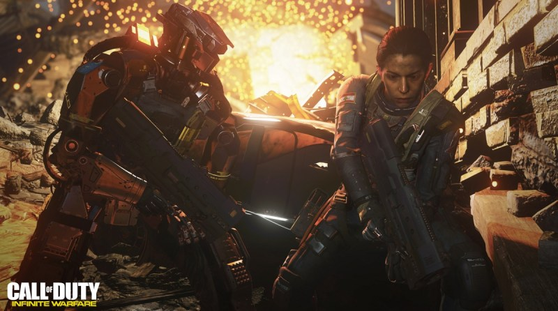 Ethan and Salter in Call of Duty: Infinite Warfare