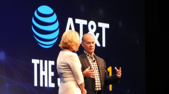 Intel's Diane Bryant speaks with AT&T's John Donovan.