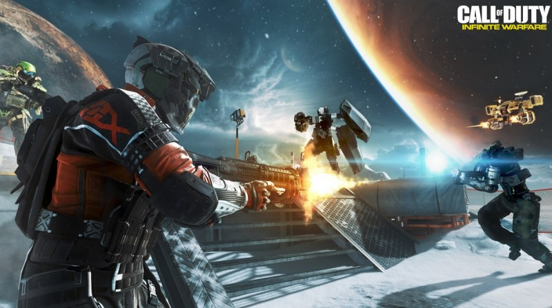 You'll fight in outer space in Call of Duty: Infinite Warfare.