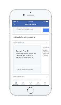 Facebook Voting Plan