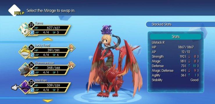 Resultado de imagem para mirages world of final fantasy skills