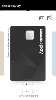 Samsung Pay new interface