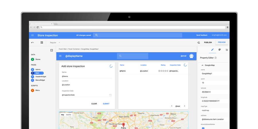 Google App Maker.
