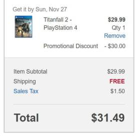 You can get Titanfall 2 for half off at certain retailers.