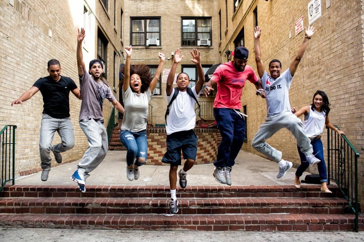 Wishbone -- students jumping