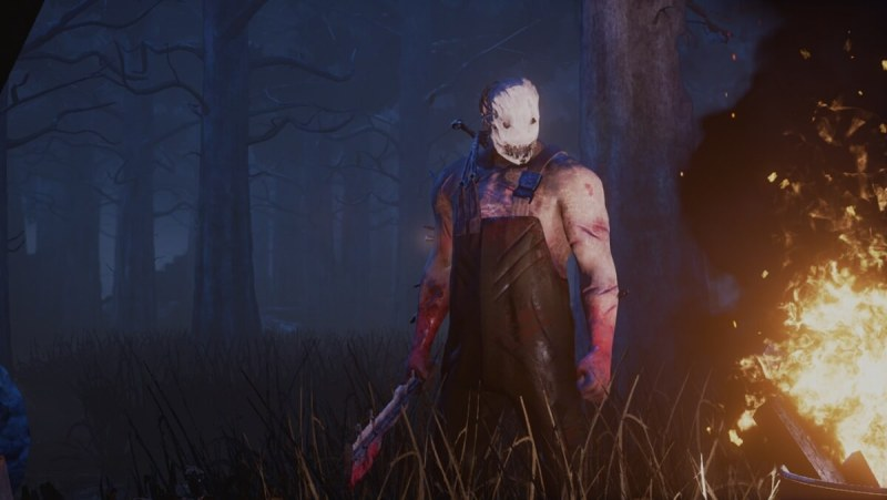 Yikes. Dead by Daylight features a killer, played by a human, hunting down four other human players.