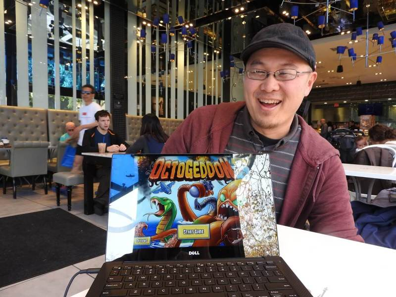George Fan, founder of All Yes Good, shows off Octogeddon for the first time.