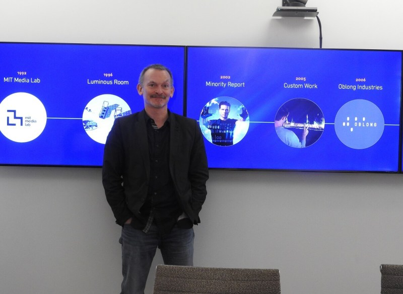 John Underkoffler, CEO of Oblong, envisioned the gesture controls in Minority Report.