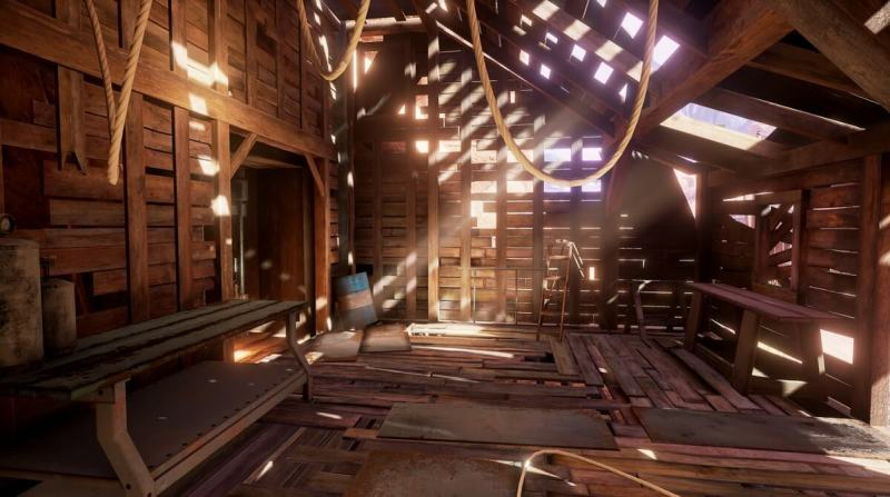 Obduction uses the Unreal engine for special effects.
